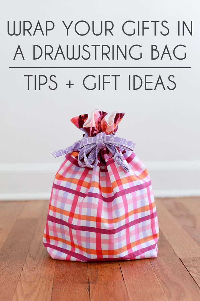 Tips & Ideas to Wrap your Gifts in A Drawstring Bag @ In Color Order