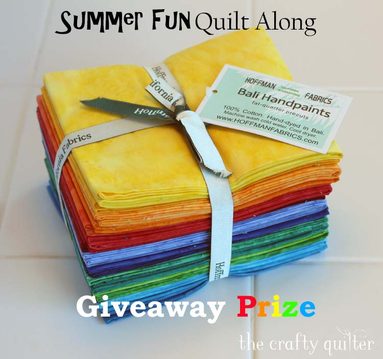 Summer Fun QAL Giveaway Prizes @ The Crafty Quilter. Begins July 6, 2018 via Linky tool