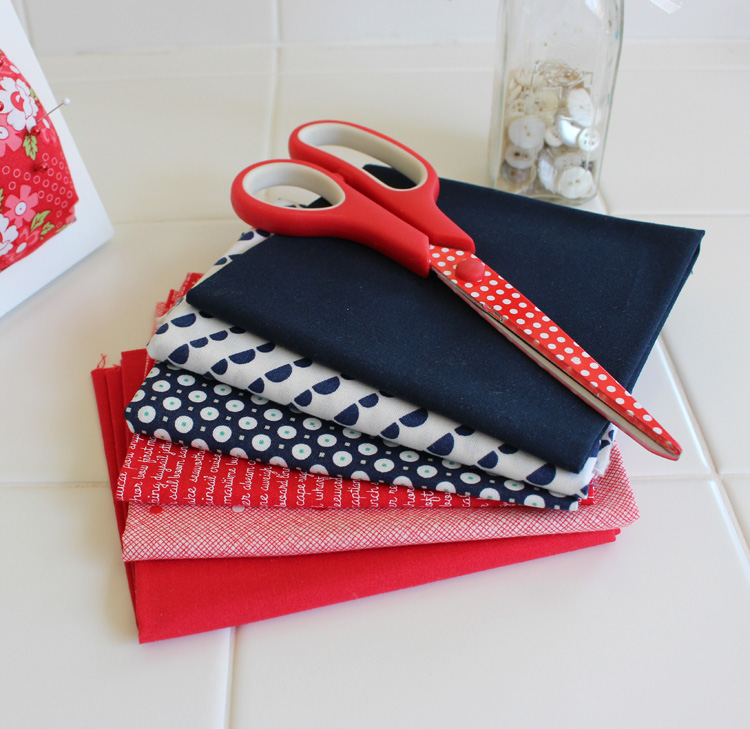 red, white and blue fabric featuring Bonnie & Camille @ The Crafty Quilter