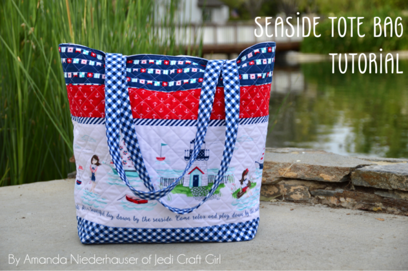 Seaside Tote Bag Tutorial @ Jedi Craft Girl
