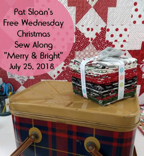Pat Sloan's Merry & Bright Sew Along @ I Love to Make Quilts . com
