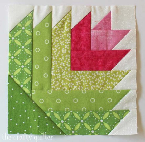 Cactus block made by Julie Cefalu @ The Crafty Quilter. Pattern by Amanda @ The Patchsmith