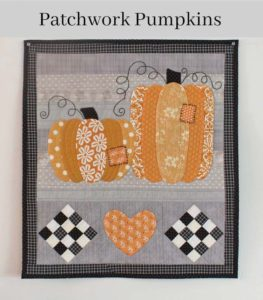 Patchwork Pumpkins Wall Hanging