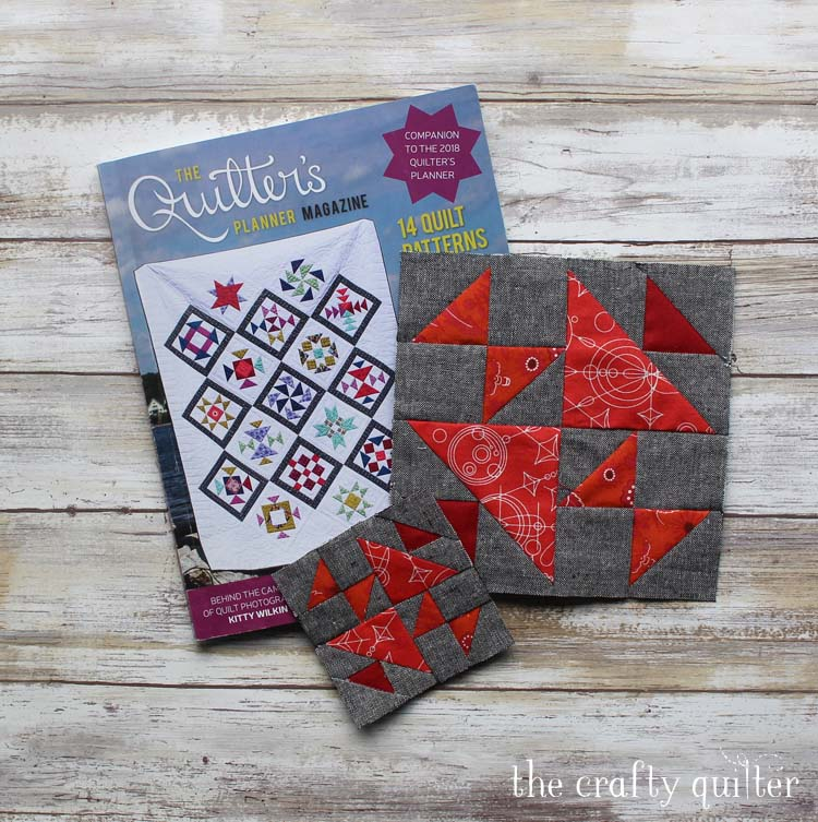 September blocks for The Quilter's Planner Sew Along by Julie Cefalu @ The Crafty Quilter