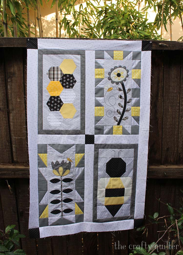 The Crafty Quilter presents Month 5 of the Save The Bees block of the month designed by Jacquelnne Steves.