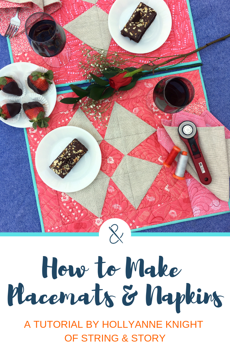 How to Make Placemats & Napkins @ String & Story
