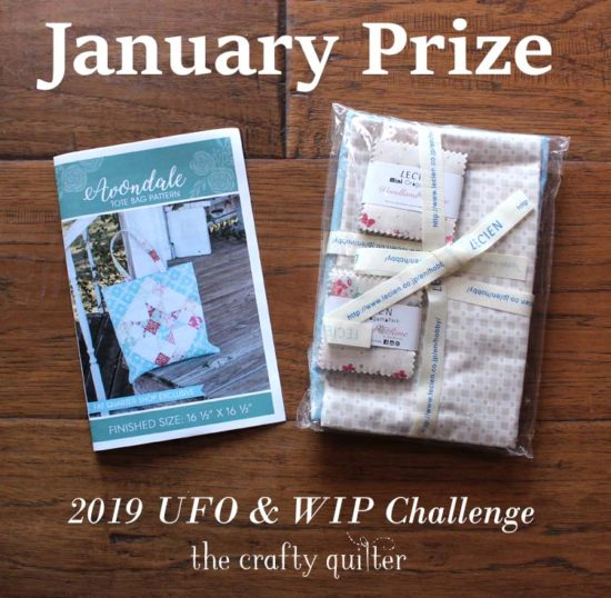 January UFO & WIP Challenge prize @ The Crafty Quilter