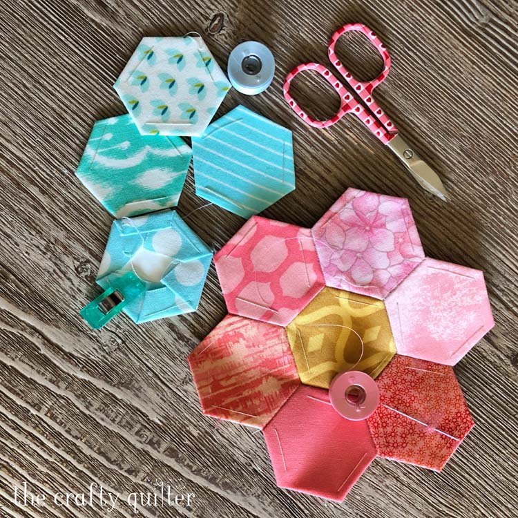 Hand Piecing Project: Hexagons for Grandmother's Flower Garden