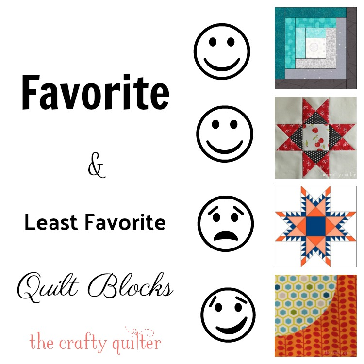 Favorite & Least Favorite Quilt Blocks as determined by 284 comments @ The Crafty Quilter