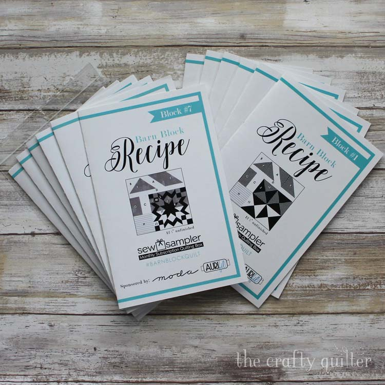 Barn Block Recipe Cards from Fat Quarter Shop. Photo by Julie Cefalu @ The Crafty Quilter