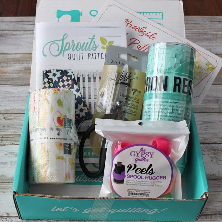 Sew Sampler Subscription Box from Fat Quarter Shop. Photo by Julie Cefalu @ The Crafty Quilter