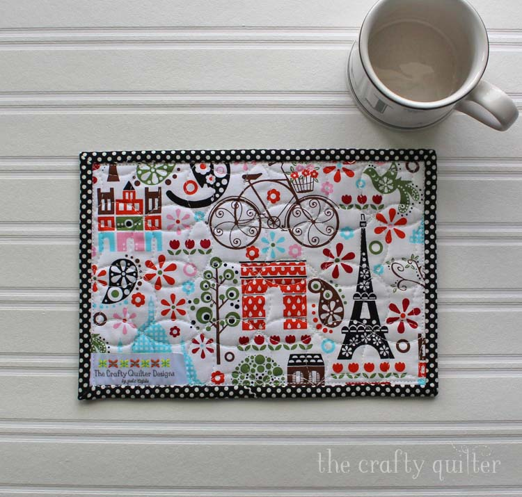 Tiled Mug Rug (backside) @ The Crafty Quilter